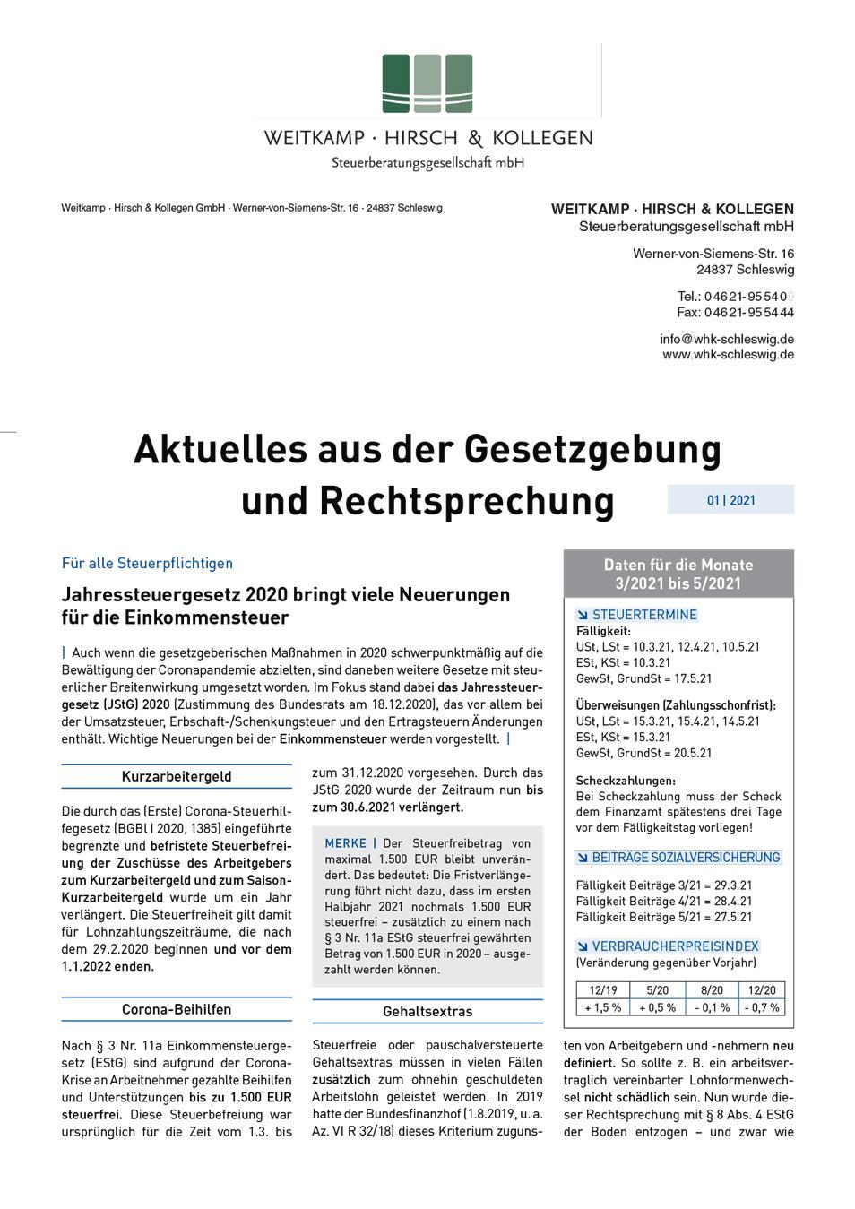 MRQ 2021 01 Weitkamp Hirsch Steuerberatungsgesellschaft mbH
